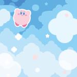 【壁紙】任天堂公式LINEアカウントでカービィのスマホ用壁紙を配信中!ホバリングで浮遊しているカービィをゲットしよう!